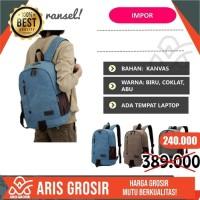 Tas Ransel Pria Kanvas Asli Briefcase Original Backpack Murah import