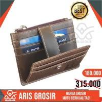 Dompet kulit asli Pria | dompet kartu Kredit Tipis Premium Branded
