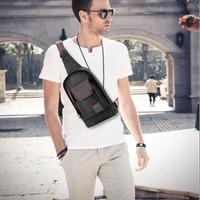 Tas Selempang Slempang Kulit Waist Bag Sling Bag Pria Premium New