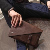Clutch Bag Kulit PU Handbag Pria Tas Tangan Pria Import Original