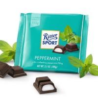 Ritter Sport Chocolate Peppermint Coklat Cokelat Dengan Mint Candy