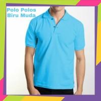Kaos Kerah Pria Polos - Kaos Polo Polos - Polo Polos Biru Muda