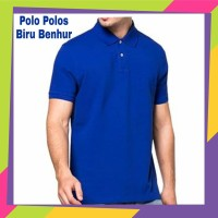 Kaos Kerah Pria Polos - Kaos Polo Polos - Polo Polos Biru benhur