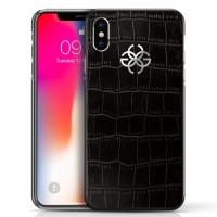 Golden Concept Luxurious Iphone X / XS Case (Croco Embossed Leather)