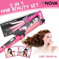 ELRAM-04 | BIG NOVA Catok Rambut 2in1 Catokan Besar 2 in 1 Curly