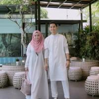 Baju Gamis Syari Wanita Busana Muslim Wanita white couple Termurah