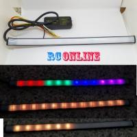 lampu led rem fleksibel drl alis 22cm rgb bisa sein running neopixel