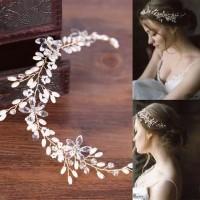 Bride Wedding Hair Accessories AR027 / Headpiece / Aksesoris crystal