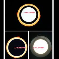 Lampu Downlight LED Panel 2 Warna Cahaya 12W + 4 Watt