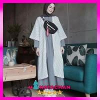 Baju Gamis Wolfis Wanita Terbaru / Style Remaja Kekinian Modern