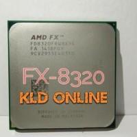 Baru Amd Fx-8320 Vishera Black Edition 8-Core 3.5 Ghz .4.0 Ghz.. Am3.