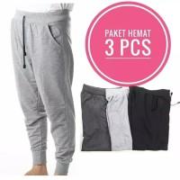 Promo Paket Hemat 3Pcs - Celana Panjang Jogger Training Sport Gym