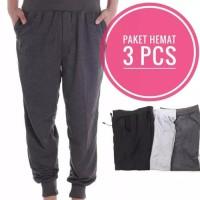 Promo Hemat 3Pcs - Celana Panjang Jogger Jumbo - Size XL