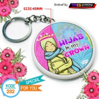 Gantungan Kunci Muslimah Size 45mm Kode Design 232