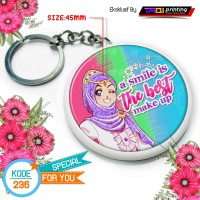 Gantungan Kunci Muslimah Size 45mm Kode Design 236
