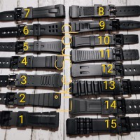 Tali Strap jam tangan QQ casio QnQ Q&Q karet rubber murah