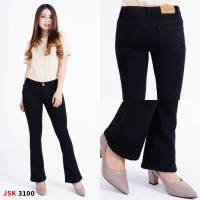 (31-34) (4 WARNA) Celana Panjang Cutbray Jeans Wanita Big Size JSK