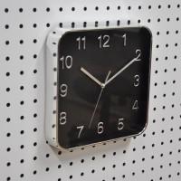 Jam dinding Minimalis / jam Kotak / jam Warna hitam silver dim 25 cm