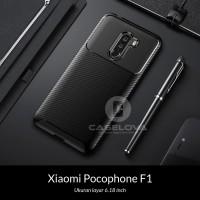 Case Xiaomi Pocophone F1 Synthetic fiber Silicone Protective Carbon