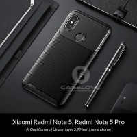 Case Xiaomi Redmi Note 5 / Note 5 Pro Synthetic Protective Carbon