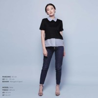 baju atasan kemeja fashion wanita casual Executive Semi Blouse