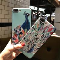 Jual Casing Motif Merak Case iPhone 5 5S 6 6S 7 8 Plus / X Diskon