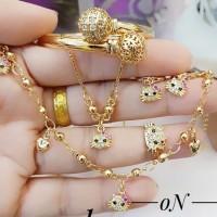 xuping set perhiasan anak kalung gelang cincin lapis emas 24k 1782
