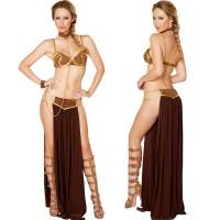 2018 New Sexy Carnival Star Wars Cosplay Princess Leia Slave Costume