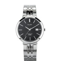 Alba Man Black Dial Sapphire Crystal Stainless Steel Watch [AS9D81X1]