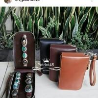 TERMURAH dompet tas kotak cincin batu akik 3 slongsong kulit asli