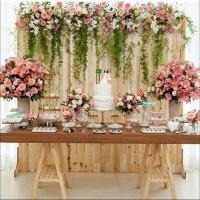 meja lipat dekorasi kayu jati belanda rak pot bunga