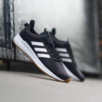 Sneakers Sepatu Adidas Questar Ride Black White Gumsole Original