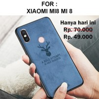 Case Xiaomi Mi8 Mi 8 softcase casing cover leather tpu ultra thin DEER
