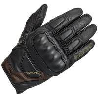 RS Taichi Original RST445 STEALTH LEATHER GLOVE RST-445 - Black Brown