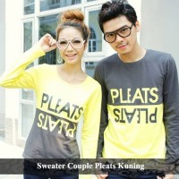 sweater couple pleats | sweater pasangan | sweater kembar
