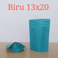 standing pouch biru 13x20
