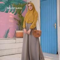 Baju Gamis Set Syari Wanita Terbaru Mawar Syari Baju Setelan Muslim 88