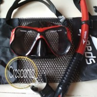 ALAT SNORKELING/SNORKLING/SNORKEL/SELAM/DIVING MERK SPEEDS KACA CLEAR
