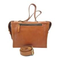 Hand sling bag wanita kulit sapi asli coklat muda leather vintage kuat