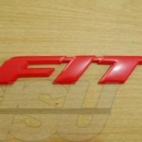 Emblem Logo FIT Honda Merah GE8 Plastik Merah Red