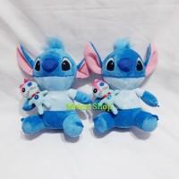 Boneka Stitch With Baby Stitch Bulu Import