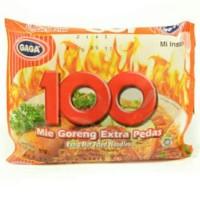 Mie GAGA 100 Extra Pedas - Harga Hemat 10 bks!!