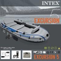 perahu kapal karet gratis dayung dan pompa excursion#68325 utk 5 orang