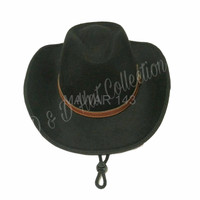PROMO Topi Pria Fedora Cowboy Gesper Kulit Made in D D Production