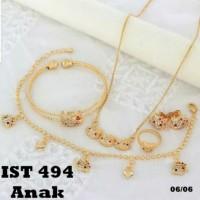 xuping set perhiasan anak kalung gelang cincin lapis emas 24k 1977