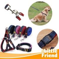 Tali Tuntun/Dog Leash/Rantai Hewan/Anjing Chest Strap Harness Denim