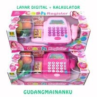 Mainan Kasir Cash Register + Acc Layar Digital Kalkulator