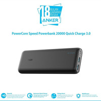 ANKER PowerCore Speed Powerbank 20000mAH Quick Charger-Black