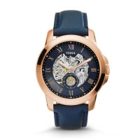 Jam Tangan Pria Fossil GRANT AUTOMATIC NAVY LEATHER
