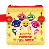 Dompet Pouch Angpao Imlek Karakter Baby Shark Chinese New Year Sin Cia